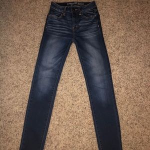 Medium/darker wash American eagle jeans